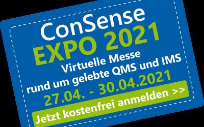 ConSense EXPO 2021 – Virtuelle Messe rund um Qualitätsmanagement und Integriertes Management