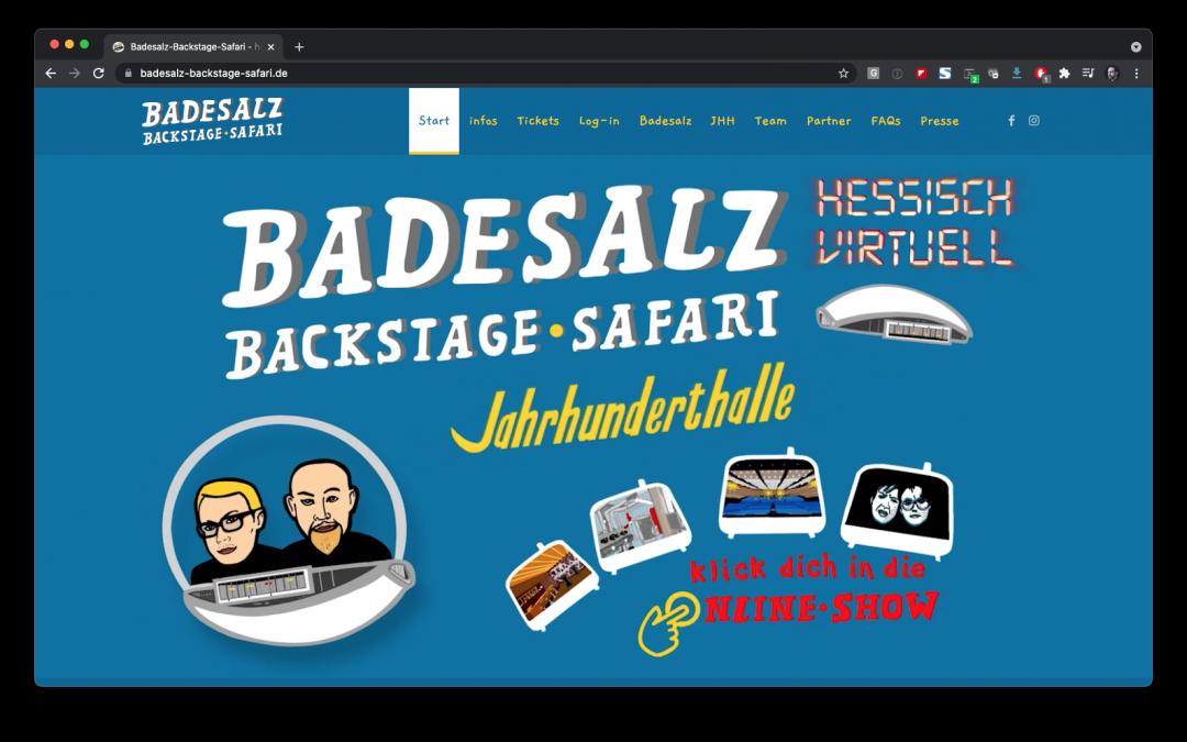 Die Badesalz-Backstage-Safari digital aus der Jahrhunderthalle Frankfurt
